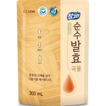 Средство для мытья посуды Lion Chamgreen Pure Fermentation 5 злаков мягкая упаковка 300 мл