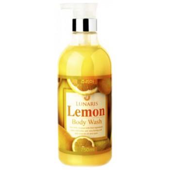 Гель для душа с экстрактом лимона, 750 мл, LUNARIS