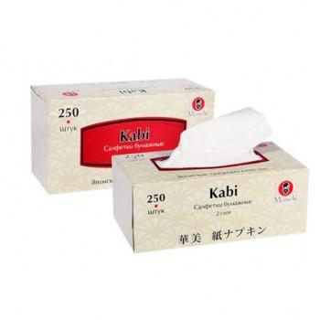 Салфетки бумажные MANEKI Kabi белые 2 слоя коробка 250 шт