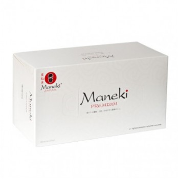 Салфетки бумажные MANEKI B&W белые с ароматом иланг-иланг 2 слоя коробка 224 шт
