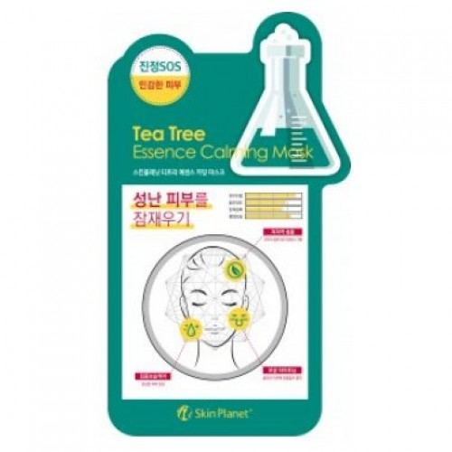 Маска для лица тканевая чайное дерево Skin Planet Tea Tree Essence Calming Mask
