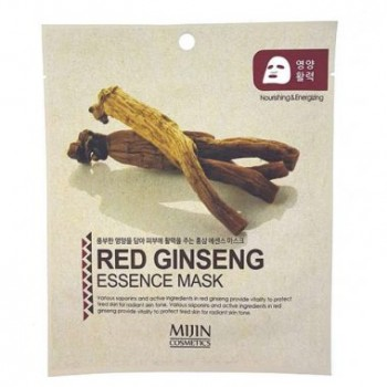 Маска для лица тканевая красный женьшень RED GINSENG ESSENCE MASK