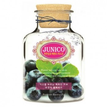 Маска тканевая c экстрактом черники Junico Blueberry Essence Mask