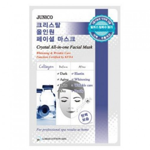 Маска тканевая c коллагеном Junico Crystal All-in-one Facial Mask Collagen