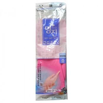Перчатки латексные хозяйственные удлиненные, с манжетой, размер М, 33см*21см