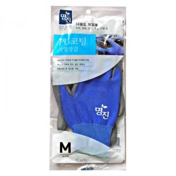 Перчатки хозяйственные с полиуретановым покрытием, размер М