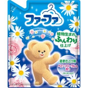 Кондиционер для детского белья NISSAN Soap FaFa с цветочным ароматом запасной блок 1650 мл