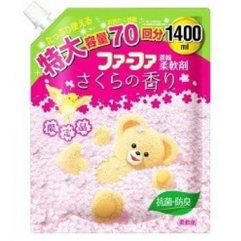 Кондиционер для детского белья NISSAN Soap FaFa аромат Сакуры запасной блок 1,4 л