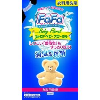 Жидкое мыло для стирки детского белья NISSAN Soap FaFa с цветочным ароматом мягкая упаковка 810 мл