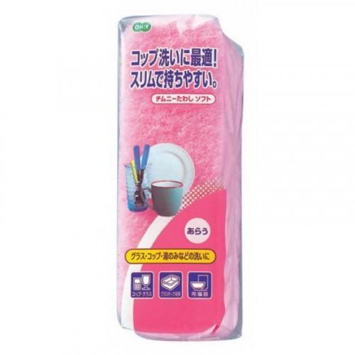 Губка для мытья посуды (двухслойная, узкая, верхний слой сред. жесткости) 1шт/упак
