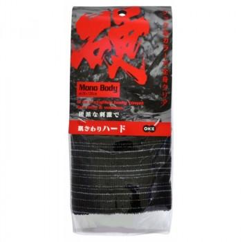 Мочалка для тела сверхжесткая (черная)