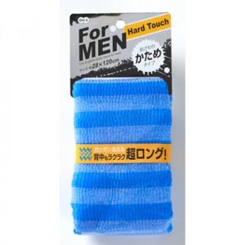 Мочалка массажная жесткая для мужчин (голубая)