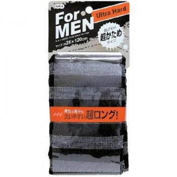 Мочалка массажная сверхжесткая  для мужчин (черная)