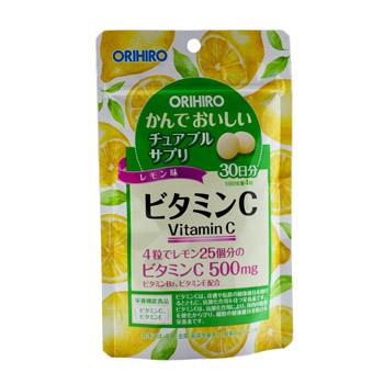 ORIHIRO Жевательный витамин С вкус лимона