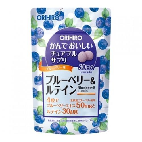 ORIHIRO Черника и лютеин жевательные витамины для глаз со вкусом черники