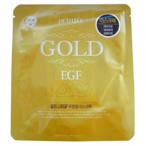 Маска для лица гидрогелевая с золотом и EGF