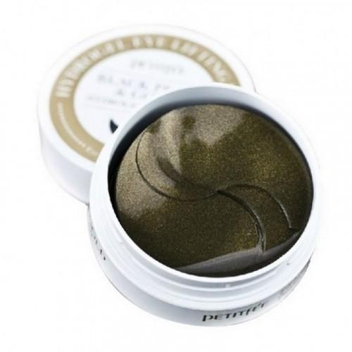 Маска для кожи вокруг глаз гидрогелевая c черным жемчугом и золотом, 60 шт.