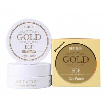 """Маска для кожи вокруг глаз гидрогелевая с золотом и EGF """"Премиум"""", 60шт."""