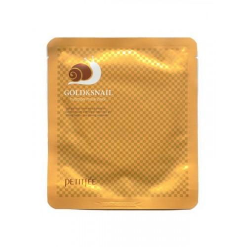 Маска для кожи лица гидрогелевая с золотом (и экстрактом улитки)