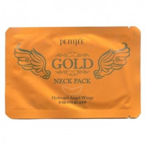 Маска для кожи шеи гидрогелевая (с золотом и экстрактом улитки)