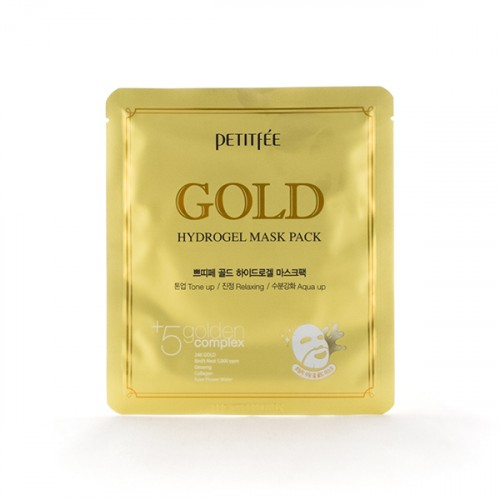Маска для лица гидрогелевая c Золотом Gold Hydrogel Mask Pack, 5 шт