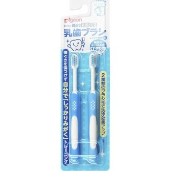 Зубные щетки PIGEON набор 18+ мес 2 шт, голубые