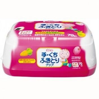 Детские влажные салфетки (для рук и лица) PIGEON пластиковый контейнер 70 шт