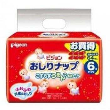 Детские влажные гигиенические салфетки PIGEON с косметическим молочком запасной блок 66 шт