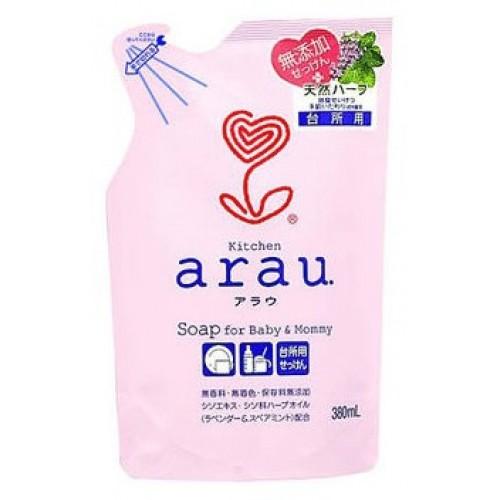 Жидкое средство для мытья посуды SARAYA ARAU запасной блок 380 мл
