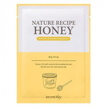 Маска тканевая медовая Nature Recipe Mask Pack_Honey