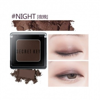 Тени для век моно Fitting Forever Single Shadow_#Night(Deep Brown)