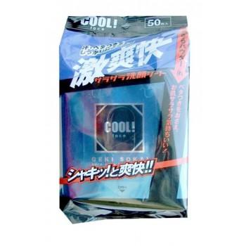 Освежающие влажные салфетки для лица с ароматом ментола, 50шт