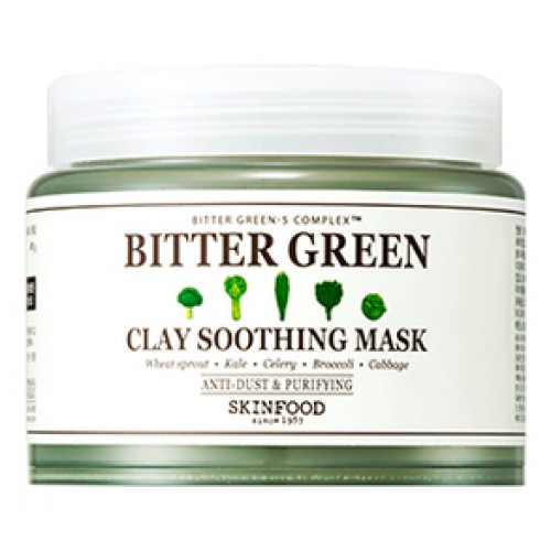 Маска для лица глиняная успокаивающая Bitter Green Clay Soothing Mask