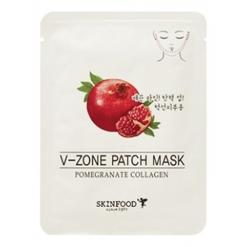 Укрепляющая маска для зоны подбородка Pomegranate Collagen V-Zone Patch Mask