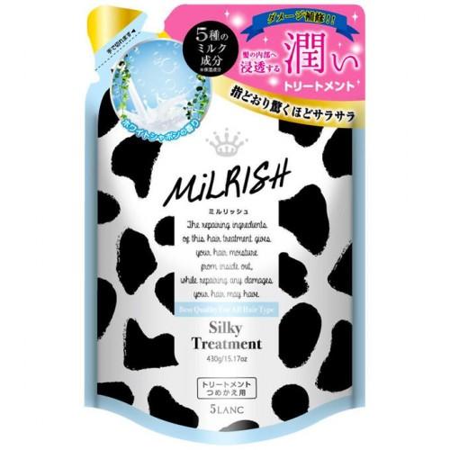 Увлажняющий бальзам для всех типов волос с пятью молочными компонентами, растительными экстрактами и цветочным ароматом (мягкая упаковка)