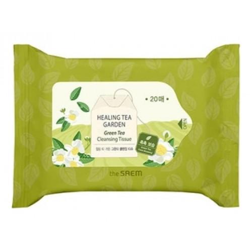 Салфетки очищающие с экстрактом зеленого чая Healing Tea Garden Green Tea Cleansing Tissue
