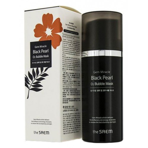 Маска кислородная с экстрактом жемчуга Gem Miracle Black Pearl O2 Bubble Mask