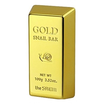 Мыло для умывания с экстрактом золота, муцина улитки, оливы Gold Snail Bar