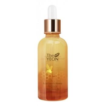 Сыворотка ампульная с прополисом и медом Jeju Canola Honey Ampoule Propolis
