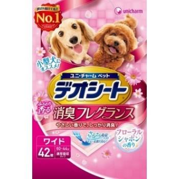 Подстилки (пеленки) для собак UNICHARM 60*44см дезодорирующие с цветочным ароматом 42 шт