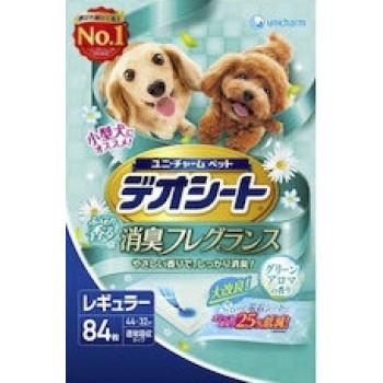 Подстилки (пеленки) для собак UNICHARM 44*32см дезодорирующие с ароматом зелени 84 шт