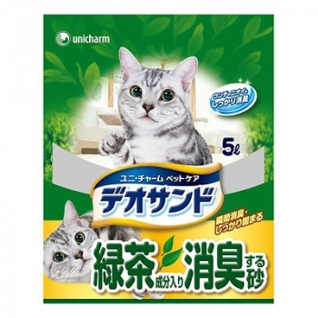 Наполнитель для кошачьего туалета UNICHARM бентонитовый дезодорирующий с экстрактом зеленого чая 5 л