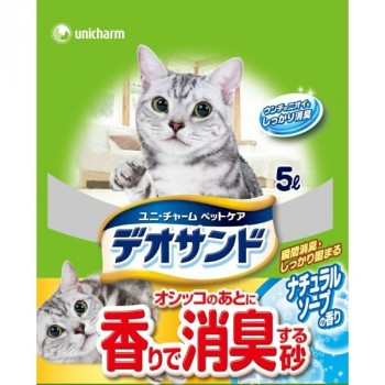 Наполнитель для кошачьего туалета UNICHARM бентонитовый дезодорирующий с ароматом мыла 5 л