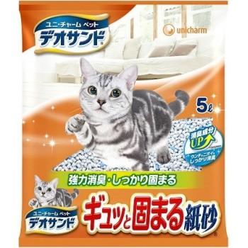 Наполнитель бумажный для кошачьего туалета UNICHARM с дезодорирующими компонентами 5 л