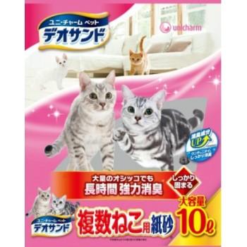 Дезодорирующий бумажный наполнитель для кошачьего туалета UNICHARM 10 л