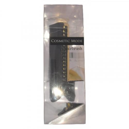 Расчёска-щётка компактной формы (черная)