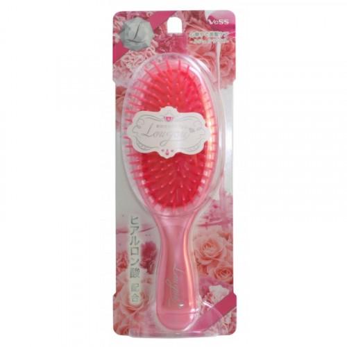 Щетка массажная для увлажнения и придания блеска волосам с маслом розы (круглая)