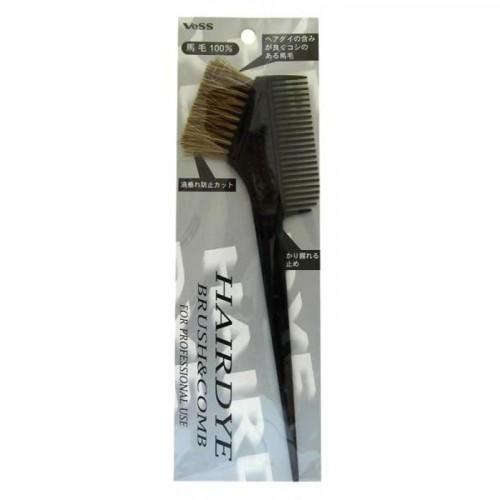 Гребень c щеткой для профессионального окрашивания волос (большой)