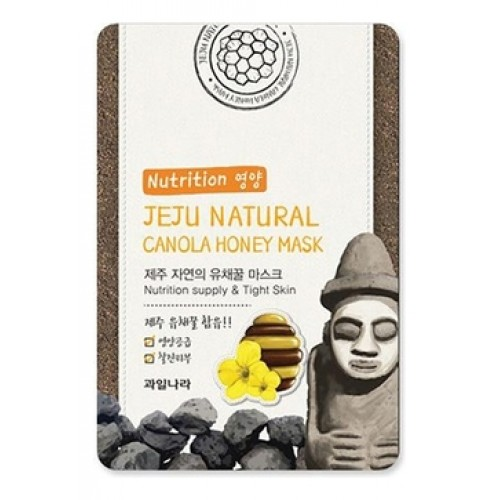 Маска для лица питательная Jeju Nature's Canola Honey Mask