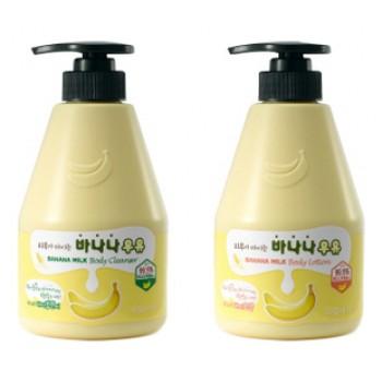 Набор детский Шампунь + Лосьон банановый Kwailnara Banana Milk Baby Special Set